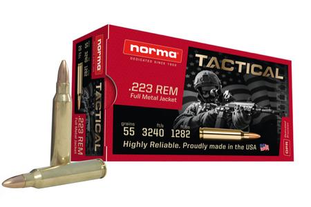 NORMA USA 223 Remington 55 gr Full Metal Jacket (FMJ) 20/Box