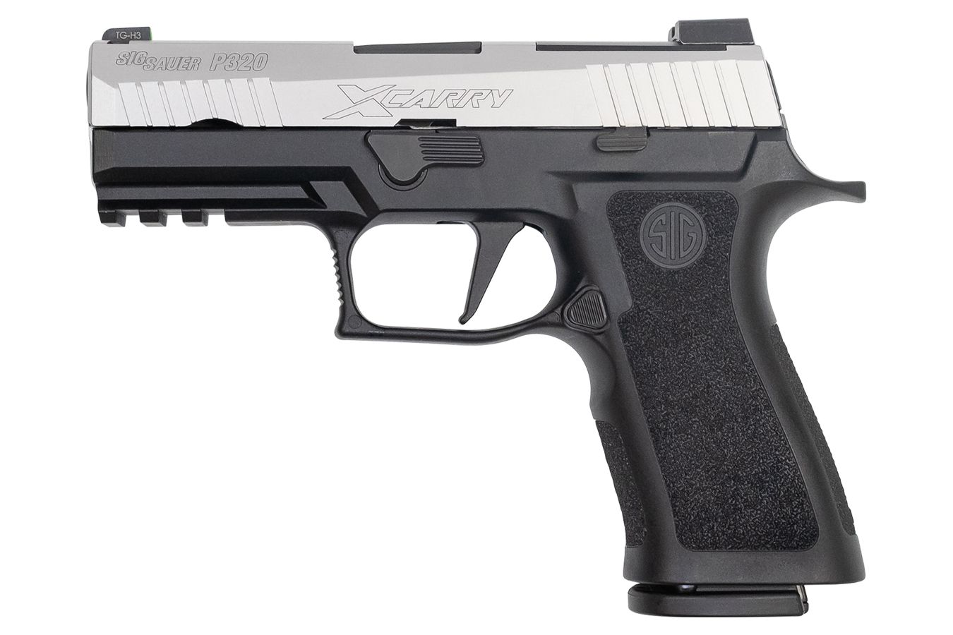 P320 X-Carry 9mm 17-Round Pistol Two-Tone with Stainless Slide and Black  Frame