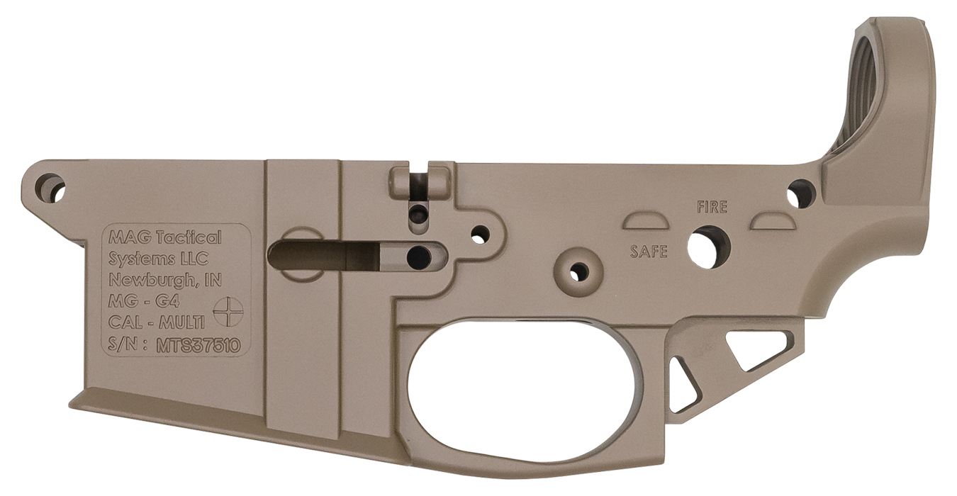 No. 15 Best Selling: MAG TACTICAL SYSTEMS MGG4 FDE AR-15 ULTRA LIGHTWEIGHT STRIPPED LOWER