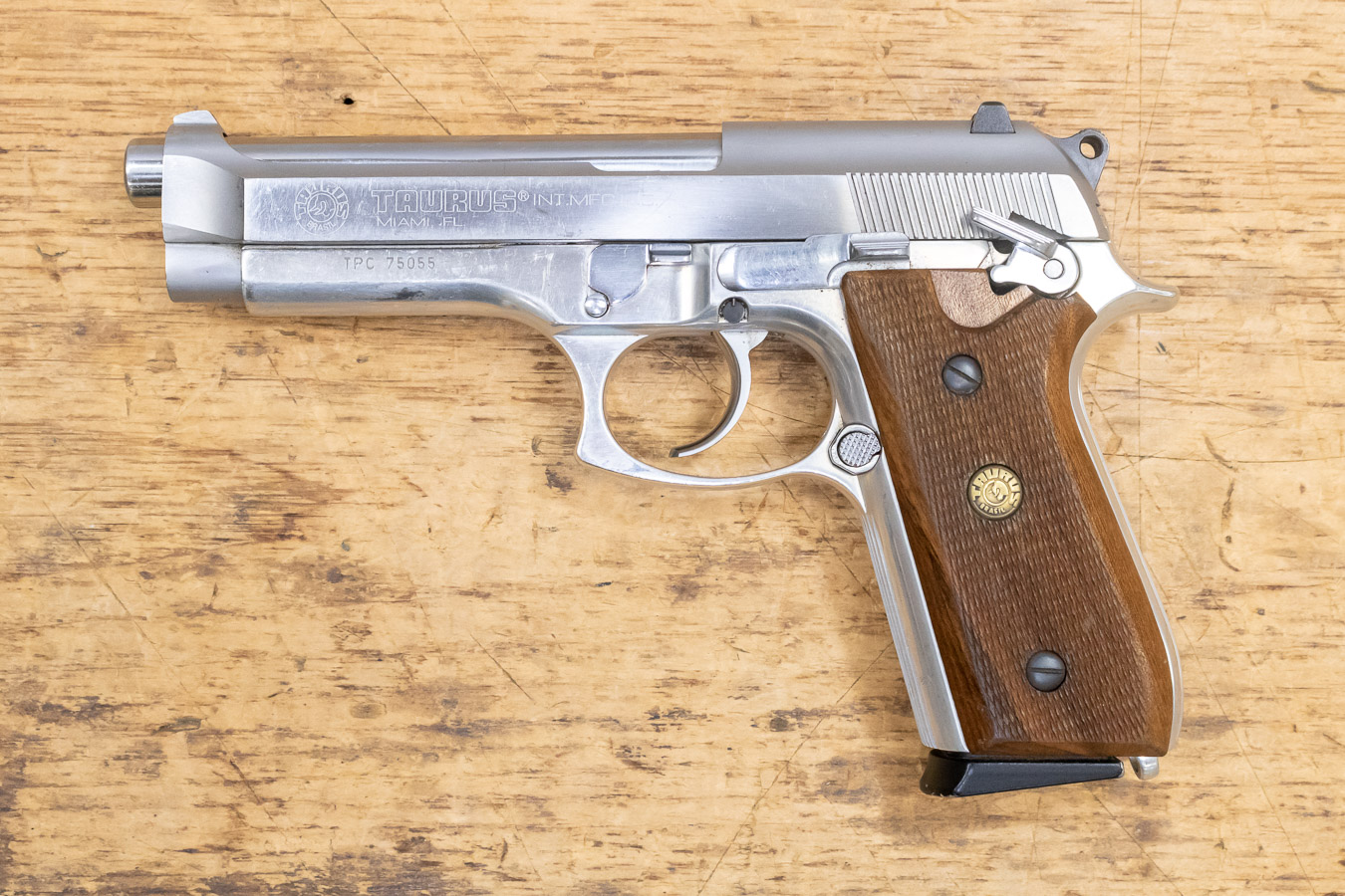 PT 92 AFS 9MM USED WOOD GRIPS