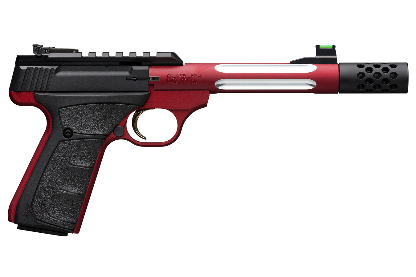 No. 26 Best Selling: BROWNING FIREARMS BUCK MARK PLUS LITE COMP 22LR 5.9 IN THREADED BBL RED ANODIZED FINISH