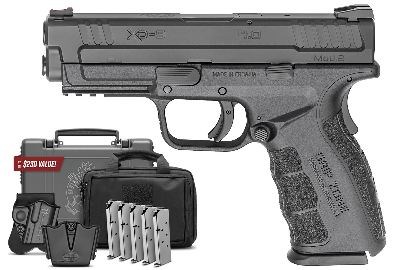 No. 12 Best Selling: SPRINGFIELD XD MOD.2 9MM 4.0 SERVICE MODEL WITH INSTANT GEAR UP PACKAGE