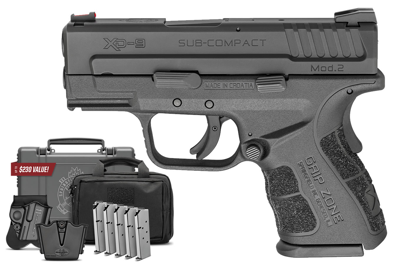 No. 11 Best Selling: SPRINGFIELD XD MOD 2 9MM SUB-COMPACT GEAR UP 3IN BBL FIBER OPTIC FRONT SIGHT 16 ROUND MAG