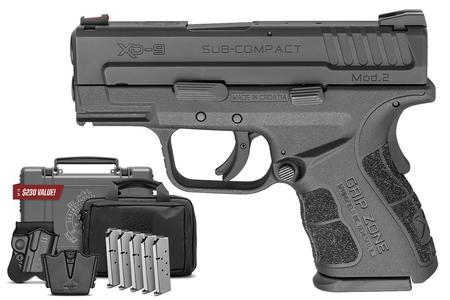 SPRINGFIELD XD MOD 2 9MM SUB-COMPACT GEAR UP 3IN BBL FIBER OPTIC FRONT SIGHT 16 ROUND MAG