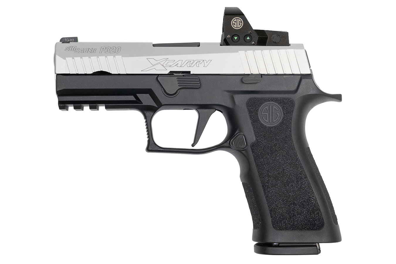 No. 1 Best Selling: SIG SAUER P320 X-CARRY 9MM BLK POLYMER FRAME STAINLESS SLIDE 17 ROUND MAGS