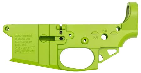 MGG4 NEON GREEN AR-15 ULTRA LIGHTWEIGHT STRIPPED LOWER