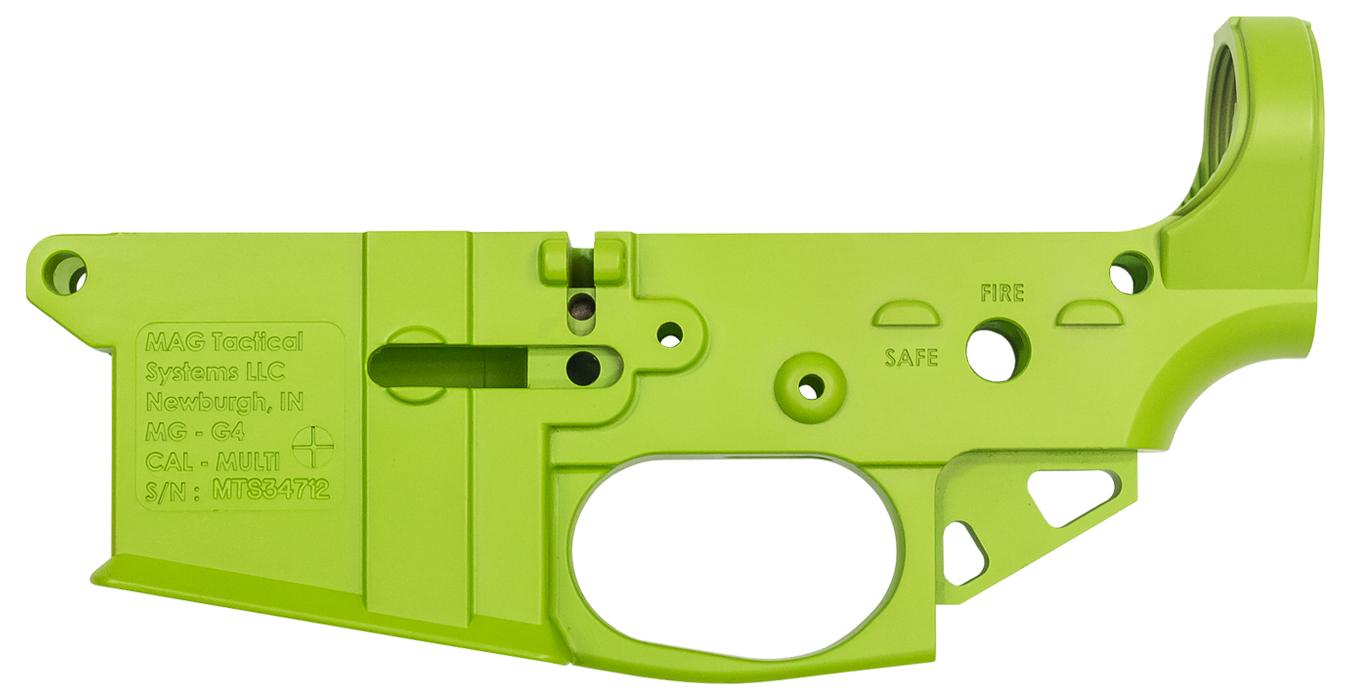 MGG4 NEON Green AR-15 Ultra Lightweight Stripped Lower