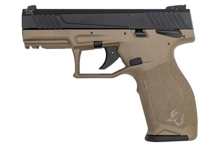 TAURUS TX22 22LR Rimfire Pistol with FDE Frame and Black Slide