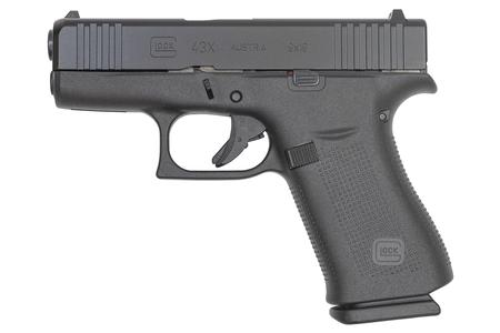 GLOCK 43X 9MM BLACK SLIDE/BLACK FRAME