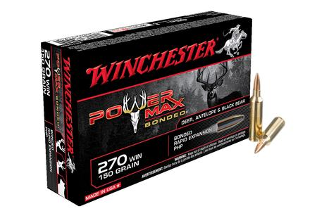 WINCHESTER AMMO 270 Win 150 gr Bonded Rapid Expansion PHP Powermax 20/Box