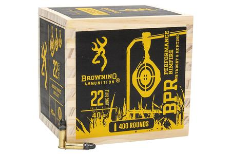 Browning 22 LR 40 Grain Black Plated LRN 400/Box