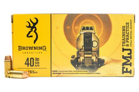 BROWNING AMMUNITION 40SW 165 gr FMJ Training and Practice 50/Box