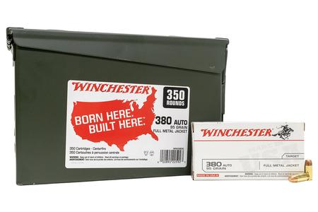 Winchester 380 Auto 95 gr FMJ 350 Rounds in Ammo Can