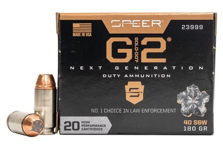 Speer 40 SW 180 gr Hollow Point Gold Dot G2 20/Box