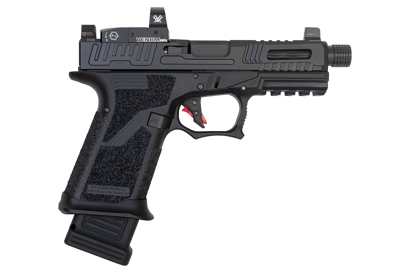 FX19 9mm Hellfire Compact Pistol with Threaded Barrel and Vortex Venom Optic