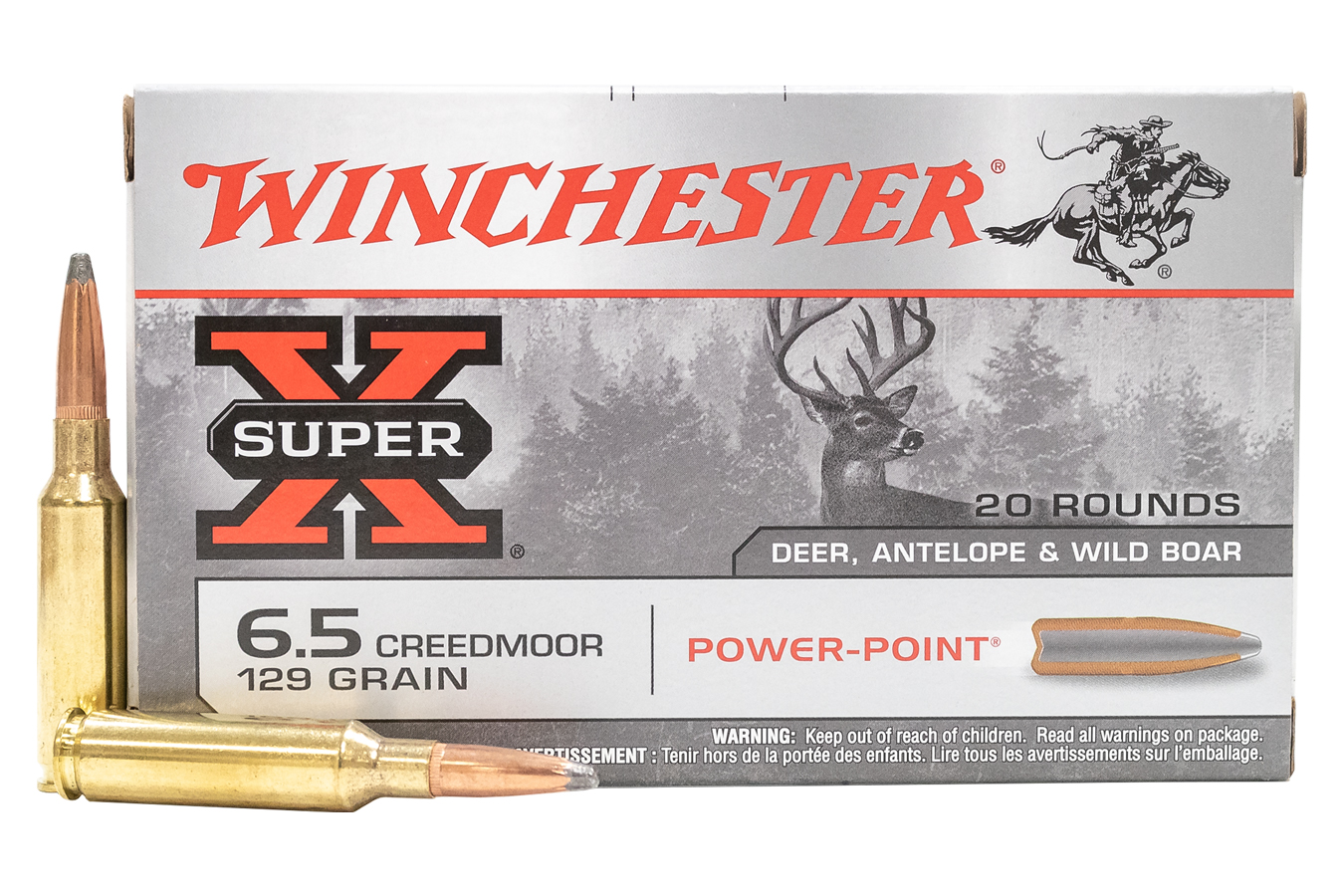 6.5 CREEDMOOR 129 GR POWER-POINT SUPER-X