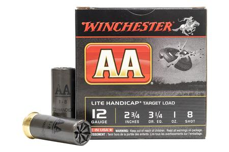 Winchester 12 Gauge 2-3/4 in 1 oz 8-Shot AA Light Handicap Target Load 25/Box