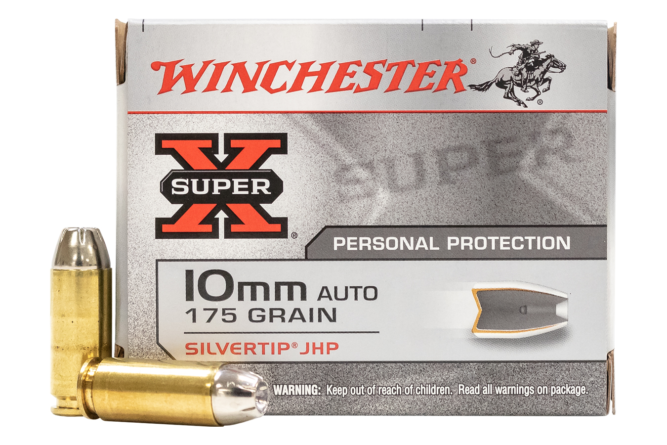 WINCHESTER AMMO 10MM 175 GR. SILVERTIP HOLLOW POINT