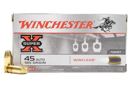 Winchester 45 Auto 185 gr Winclean Police Trade-in Ammo 50/Box
