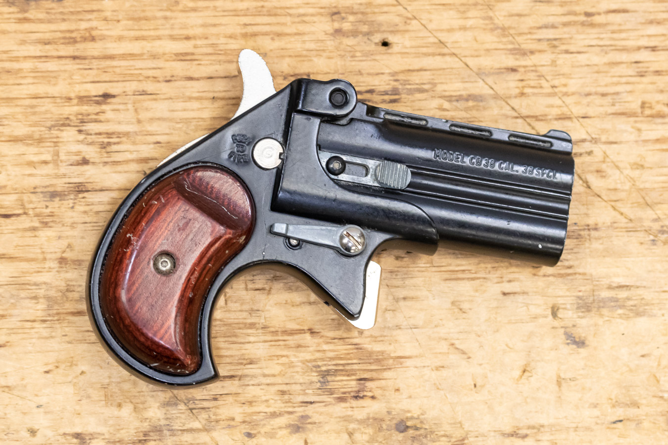 CB38 38 Special Used Trade-in Derringer with Black Frame and Wood Grips