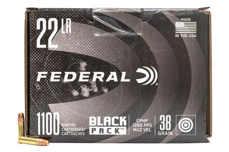 FEDERAL AMMUNITION 22LR 38 gr Copper Plated Hollow Point Black Pack 1100/Box