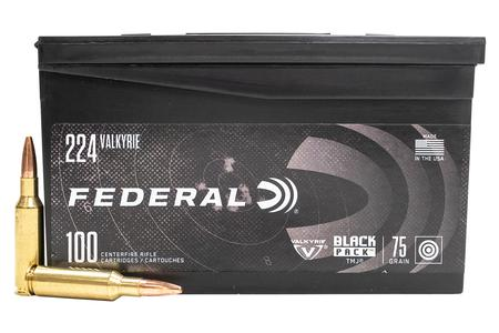 FEDERAL AMMUNITION 224 Valkyrie 75 gr TMJ Black Pack 100/Box