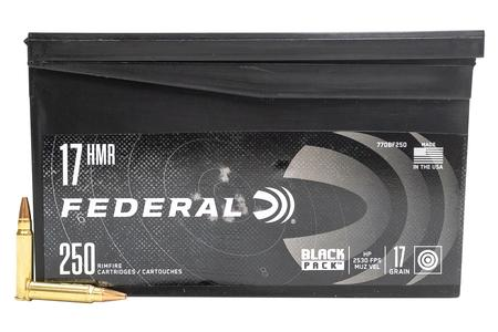 FEDERAL AMMUNITION 17 HMR 17 gr Hollow Point Black Pack 250/Box