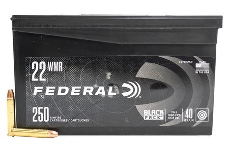 FEDERAL AMMUNITION 22 WMR 40 gr FMJ Black Pack 250/Box