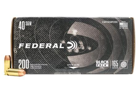 Federal 40SW 165 gr FMJ Black Pack 200/Box