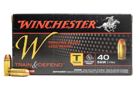 Winchester 40SW 180 gr FMJ Lead Free Train and Defend 50/Box