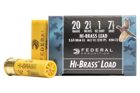 FEDERAL AMMUNITION 20 Gauge 2-3/4 Inch 1 oz 7.5 Shot Game-Shok 25/Box