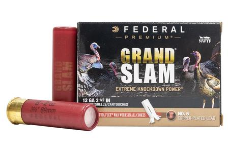 Federal 12 GA 3 1/2 Inch 2 oz 6 Shot Grand Slam 10/Box