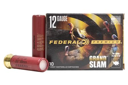 Federal 12 GA 3 1/2 Inch 2 Oz 5 Shot Grand Slam 10/Box