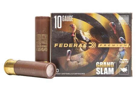 FEDERAL AMMUNITION 10 Gauge 3-1/2 Inch 2 oz 4 Shot Grand Slam 10/Box