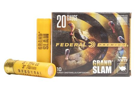 FEDERAL AMMUNITION 20 Gauge 3 Inch 1-5/16 oz 5 Shot Grand Slam 10/Box