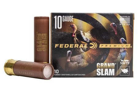 FEDERAL AMMUNITION 10 Gauge 3-1/2 Inch 2 oz 5 Shot Grand Slam 10/Box