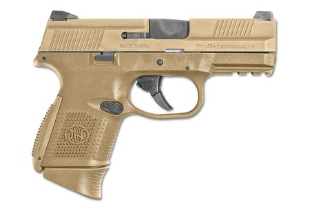 FNH FNS-9 COMPACT 9MM FDE WITH NIGHT SIGHTS