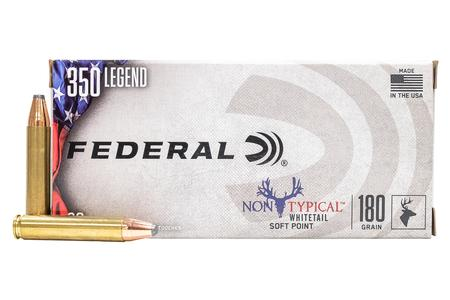 FEDERAL AMMUNITION 350 Legend 180 gr Soft Point Non-Typical 20/Box