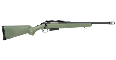 RUGER AMERICAN PREDATOR 450 BM 16.25 IN BBL MOSS GREEN SYN STOCK MATTE BLK RECEIVER