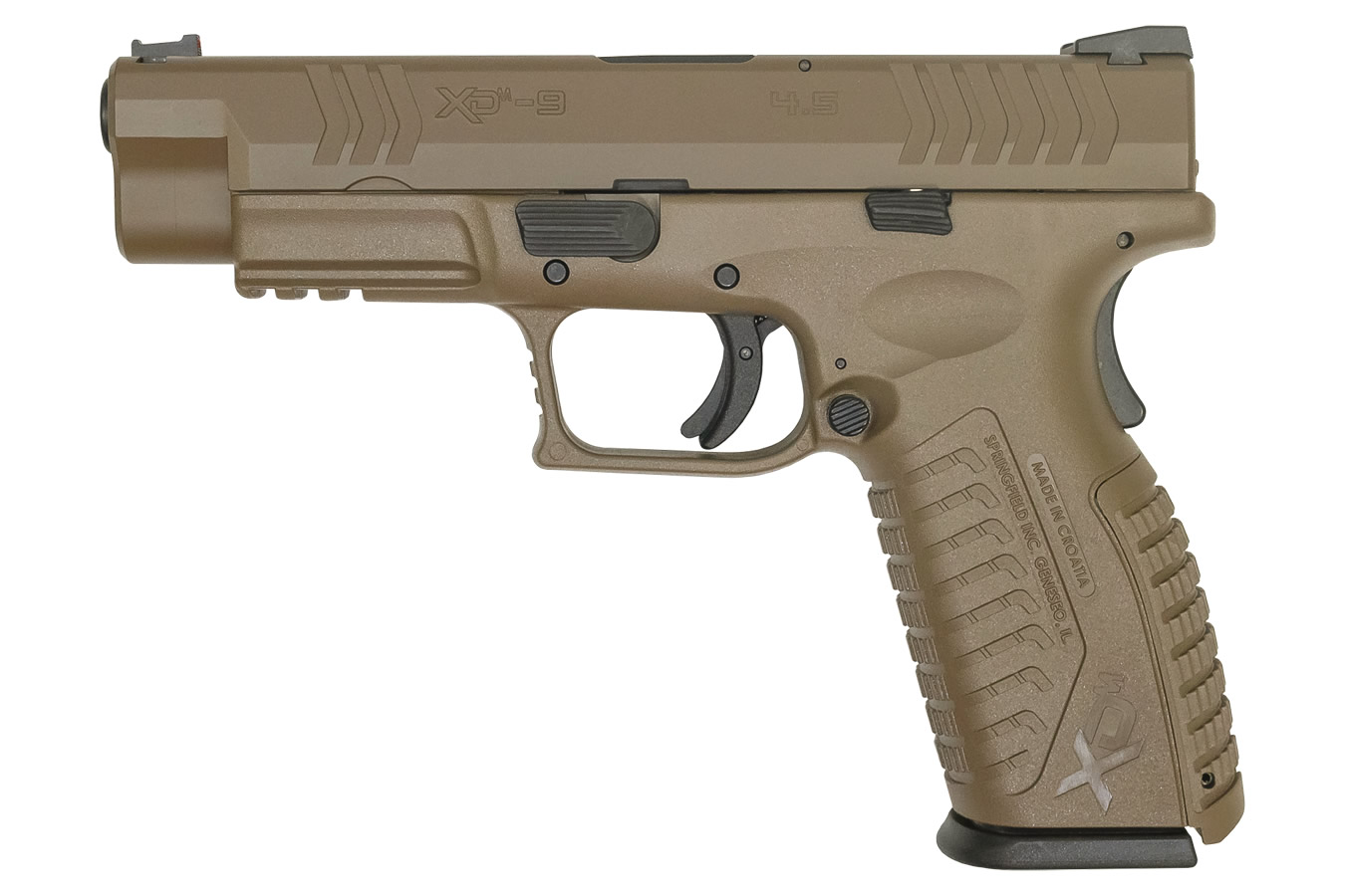 XDM 9MM 4.5 FULL-SIZE FLAT DARK EARTH PISTOL