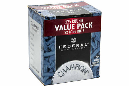 FEDERAL AMMUNITION 22LR 36 gr Copper Plated HP High Velocity 525 Round Brick