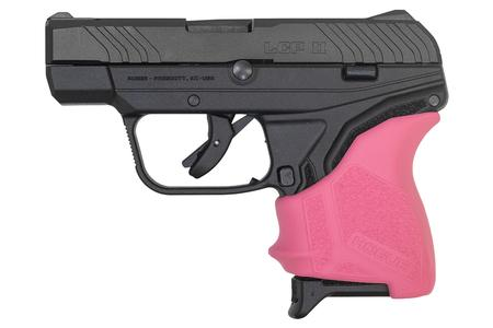LCP II 380 ACP WITH PINK HOGUE GRIP SLEEVE
