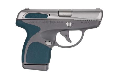 TAURUS Spectrum 380 Auto Stainless Silver/Gray with Indigo Blue Grips