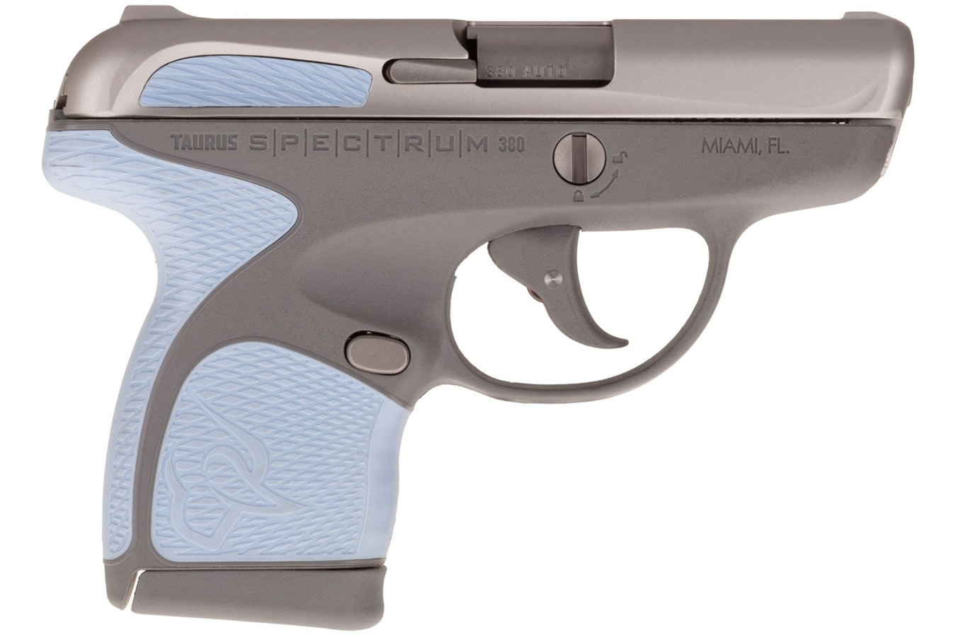 SPECTRUM .380AUTO SS/GRY 2.8`` 6/7 SERENITY BLUE