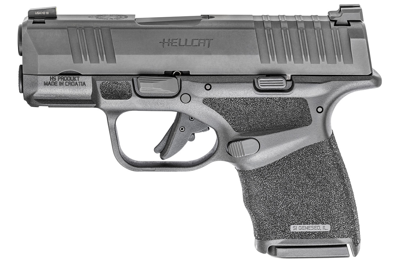 No. 3 Best Selling: SPRINGFIELD HELLCAT 9MM BLACK MICRO COMPACT PISTOL