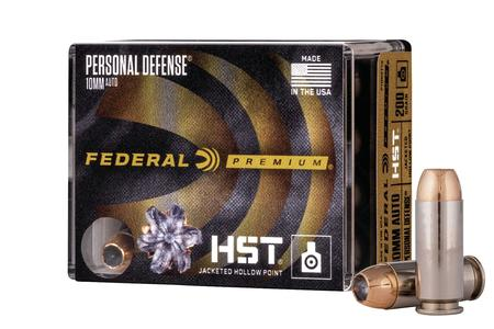 FEDERAL AMMUNITION 10mm Auto 200 gr HST Personal Defense 20/Box