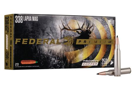 FEDERAL AMMUNITION 338 Lapua 250 Grain Trophy Copper 20/Box