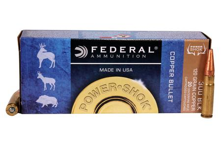Federal 300 Blackout 120 gr Copper Power Shok 20/Box