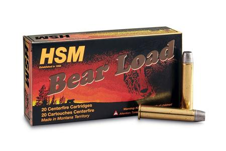 Hsm 45-70 Govt. 430 Grain Round Nose Flat Point Gas Check Bear Load 20/Box