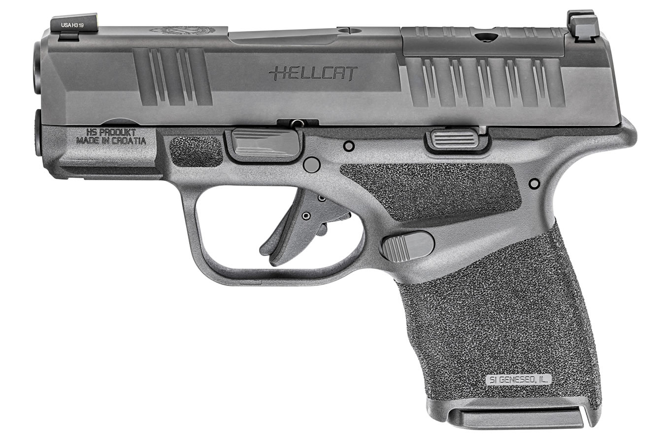 No. 6 Best Selling: SPRINGFIELD HELLCAT 9MM BLACK OPTICS READY PISTOL
